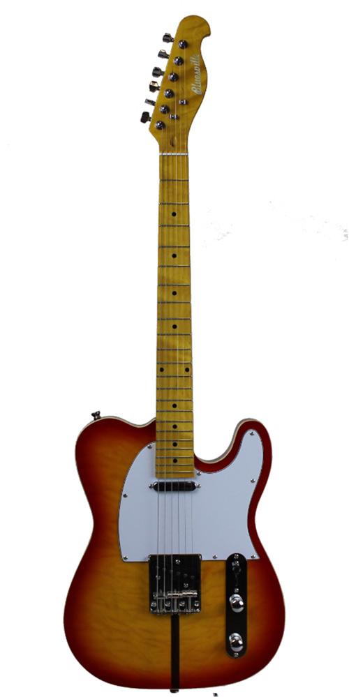 Cassidy Electric Guitar Bluesville Series BV511 Cherry Sunburst