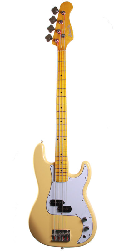 Cassidy Guitars bass guitar UK built in cream