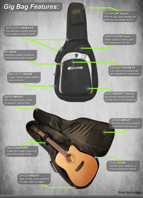 Gig Bags from Cassidy Guitars