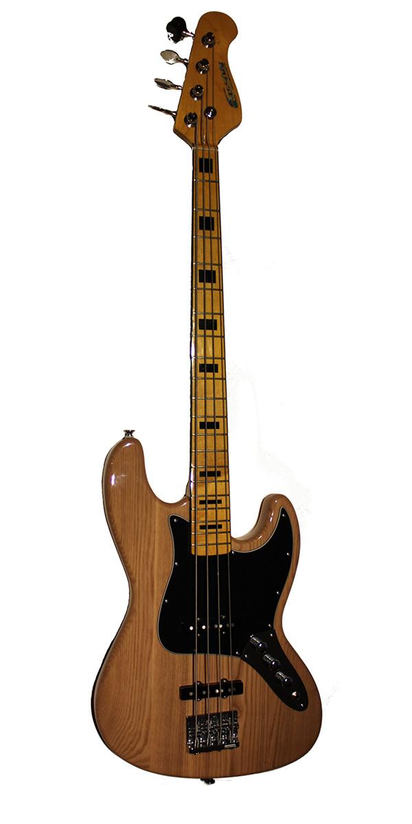 UK Custom Built Jazz Bass natural Finish